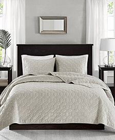 Madison Park Harper Velvet 3-Pc. Quilted Full/Queen Coverlet Set