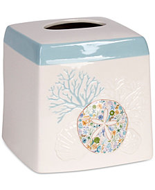 Saturday Knight Seaside Blossoms Tissue Box Cover