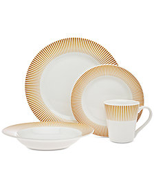 CLOSEOUT! Godinger	Ravi Amber 16-Pc. Dinnerware Set, Service for 4