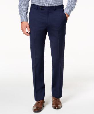 Men's Modern-Fit TH Flex Stretch Navy Twill Suit Pants