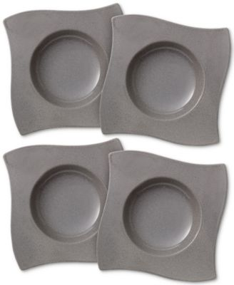 New Wave Stone Set of 4 Pasta Plates