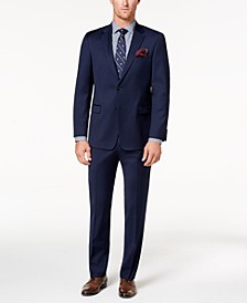 Men's Modern-Fit TH Flex Stretch Navy Twill Suit Separates