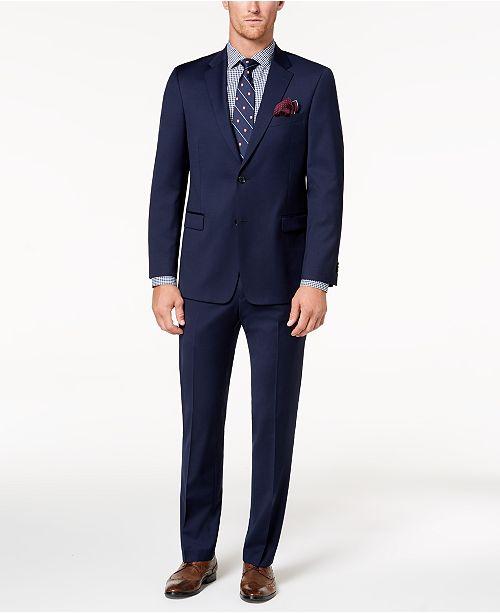 Tommy Hilfiger Men's Modern-Fit TH Flex Stretch Navy Twill Suit Separates