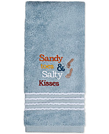 Saturday Knight Beach Time Cotton Embroidered Hand Towel