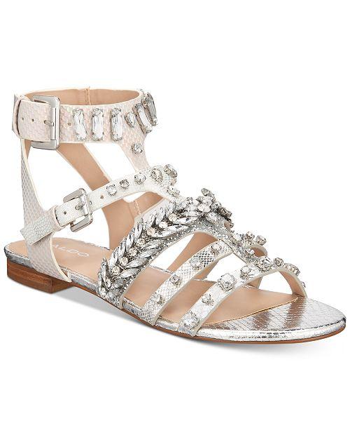 323d6b5d3fe ALDO Brari Embellished Gladiator Sandals   Reviews - Sandals   Flip ...