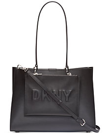 DKNY Mott Leather Logo Tote, Created for Macy's
