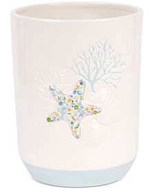 Saturday Knight Seaside Blossoms Wastebasket