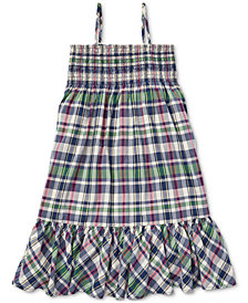 Polo Ralph Lauren Big Girls Cotton Madras Dress