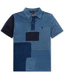 Polo Ralph Lauren Big Boys Patchwork Cotton Polo