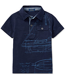 Polo Ralph Lauren Toddler Boys Graphic-Print Cotton Polo