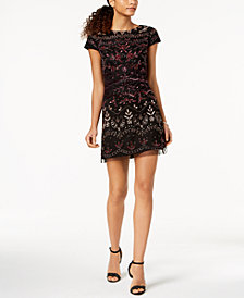 Adrianna Papell Petite Embellished A-Line Dress