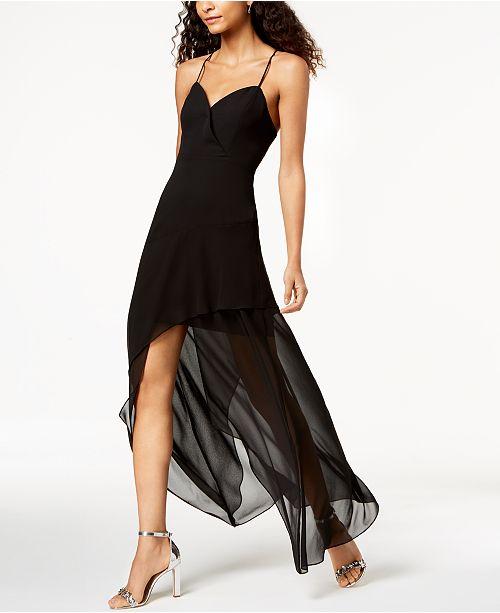 Maxi Dress High Low Black BCBGeneration qP0BE