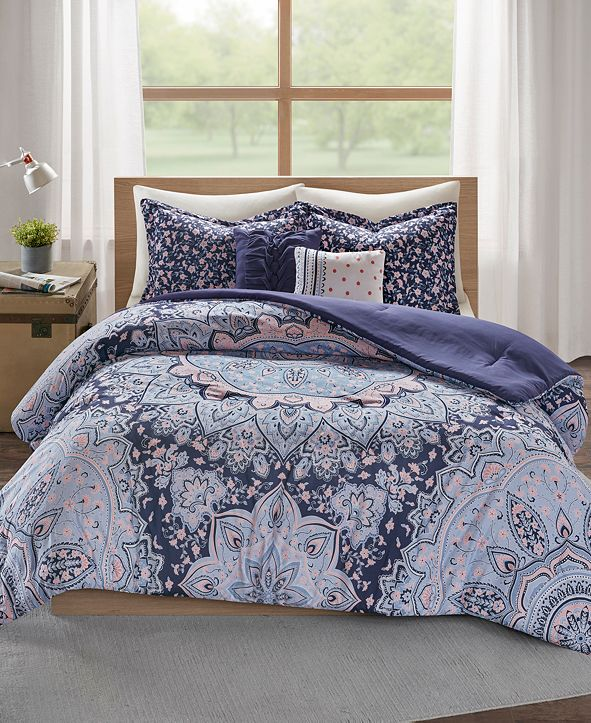 Intelligent Design Odette Boho Reversible 5-Pc. Full/Queen Quilted Coverlet Set
