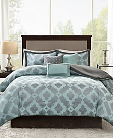 Madison Park Beckett 6-Pc. Full/Queen Duvet Cover Set