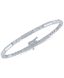 Diamond Station Link Bracelet (1/2 ct. t.w.)