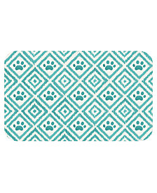 TarHong Paw Ikat Teal Pet Placemat