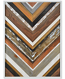 June Wood Abstract Wall Sculpture, Quick Ship