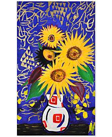 Sunflower Botanical Frameless Painting, Quick Ship