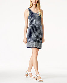 Maison Jules Floral-Print Shift Dress, Created for Macy's