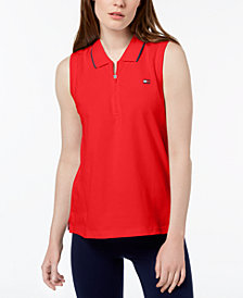 Tommy Hilfiger Sport Sleeveless Zipper Polo Shirt, Created for Macy's