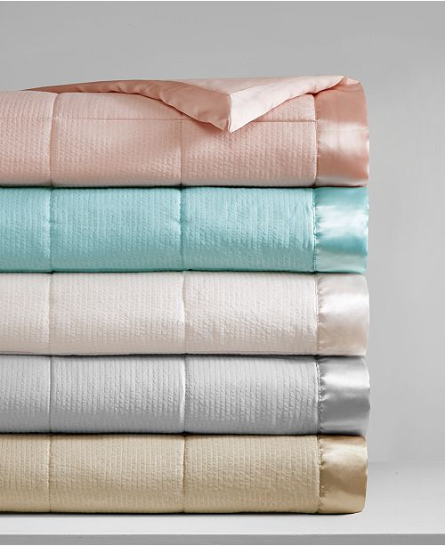 Madison Park Cambria Down Alternative Blanket, Embossed Oversized Reversible Quilted Microfiber with 3M Scotchgard™ Repel & Release
