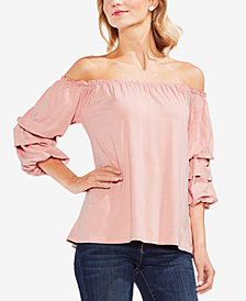 Vince Camuto Off-The-Shoulder Bubble-Sleeve Top