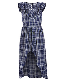 Epic Threads Big Girls Plaid Maxi-Overlay Romper, Created for Macy's