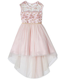 Rare Editions Little Girls Embroidered High-Low Hem Dress