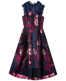 Rare Editions Big Girls Floral Jacquard Maxi Dress
