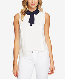CeCe Peter-Pan-Collar Top