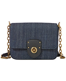 Lauren Ralph Lauren Millbrook Denim Chain Crossbody
