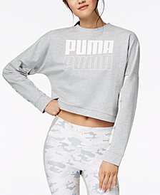 Puma dryCELL® Logo Cropped French Terry Sweatshirt