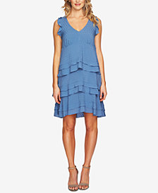 CeCe Ruffled V-Neck Dress