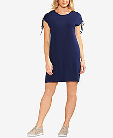Vince Camuto Lace-Up-Shoulder Dress