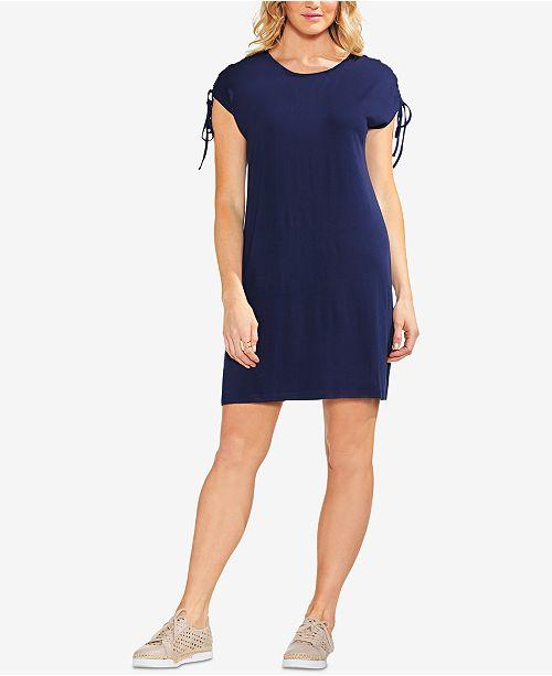 Dress Shoulder Lace Vince Camuto Black Iris Up I8nqSqgw6