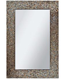 Amber Mosaic Wall Mirror, Quick Ship