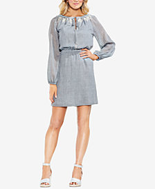 Vince Camuto Embroidered Peasant Dress