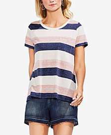 Vince Camuto Striped Pocket T-Shirt