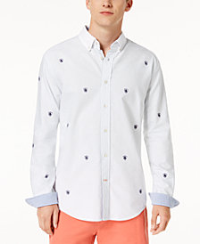 Tommy Hilfiger Men's Marco Embroidered Crest Shirt, Created for Macy's
