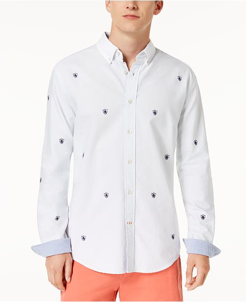 d2b4d846 ... Tommy Hilfiger Men's Marco Embroidered Crest Shirt, Created for Macy's  ...