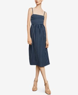 Bcbgmaxazria Striped Twist-Back Cutout Dress 6571190