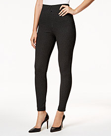 I.N.C. Piqué-Knit Smoothing Leggings, Created for Macy's
