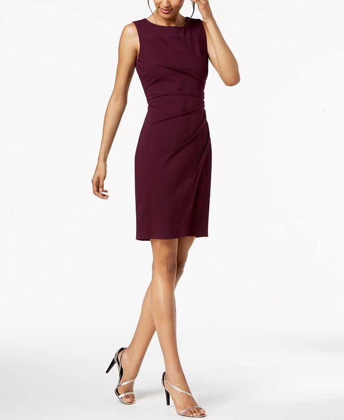 Calvin Klein - Sleeveless Sunburst Sheath Dress