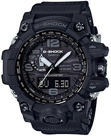 G-Shock Men's Solar Analog-Digital Master of G Black Resin Strap Watch 56mm