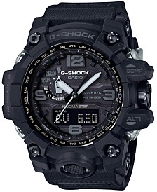 G-Shock Men's Solar Analog-Digital Master of G Black Resin Strap Watch 56mm