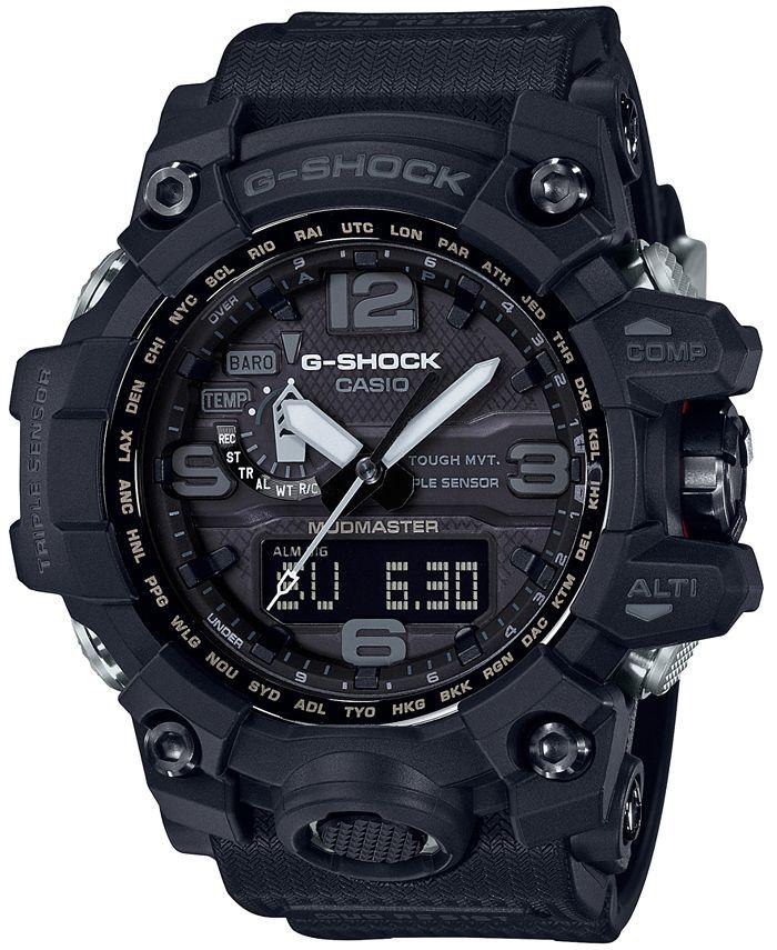 G-Shock - Men's Solar Analog-Digital Master of G Black Resin Strap Watch 56mm