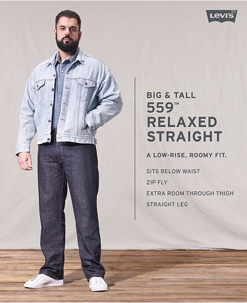15f37c007e73 Levi's Men's Big and Tall 559 Relaxed Straight Fit Jeans & Reviews ...