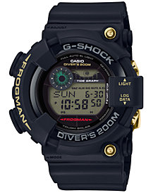 G-Shock Men's Solar Digital Master of G 35th Anniversary Edition Black Resin Strap Watch 50mm