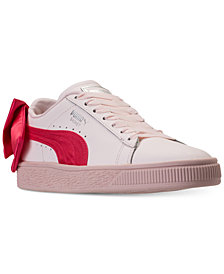 Puma Girls' Basket Bow Casual Sneakers from Finish Line