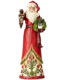 Jim Shore Tall Santa with Lantern Figurine